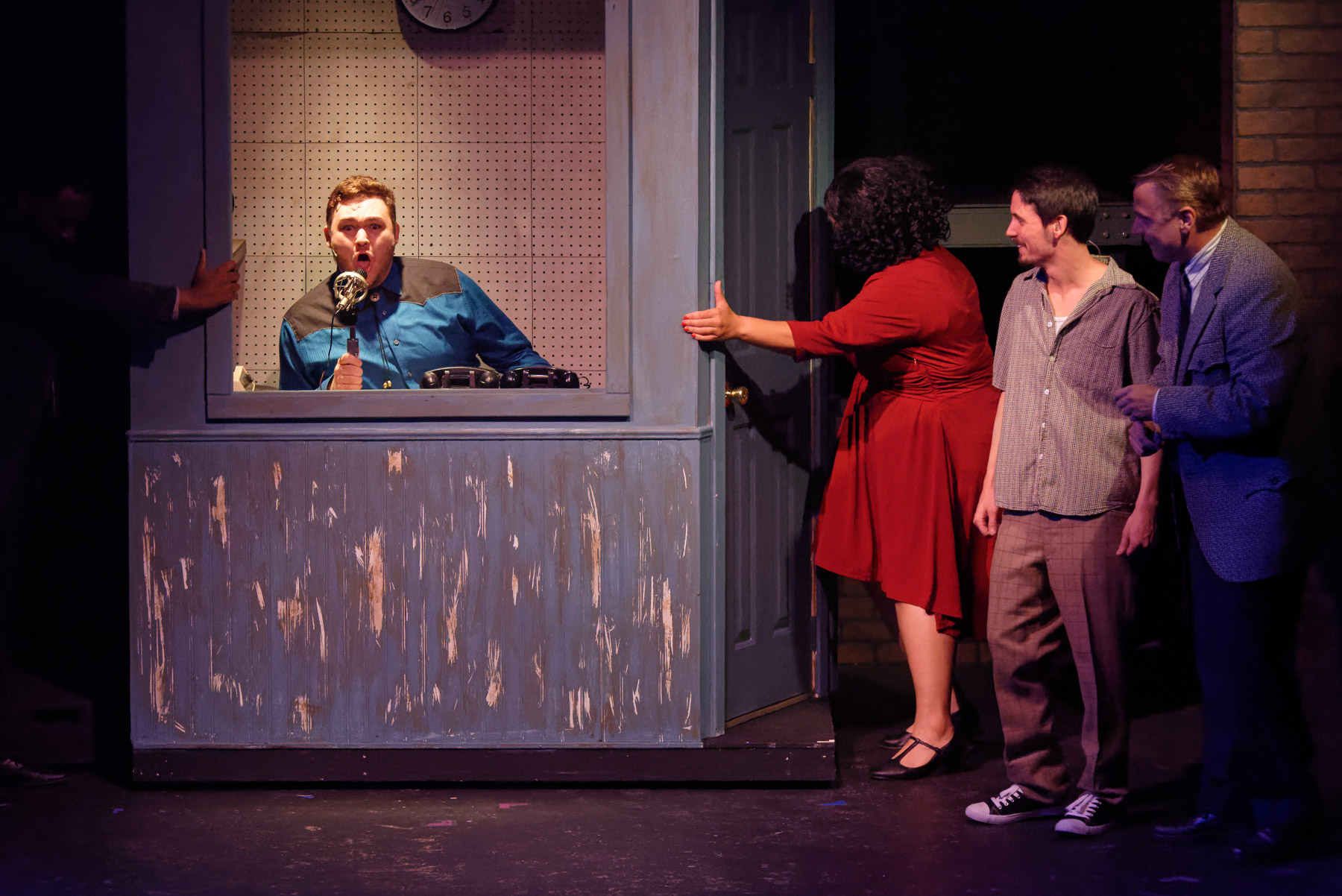Jonathan McInnis as Buck Wiley in Memphis at GLCT (Photo by Michael C. Foster)
